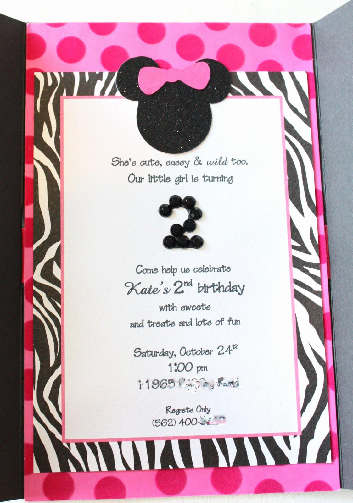Minnie Mouse Birthday Invitations Beautiful Kate S Minnie Mouse Invitation