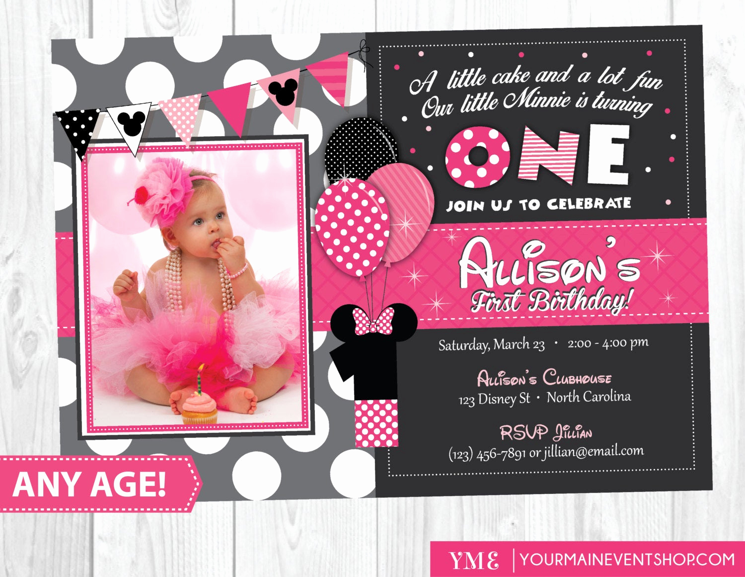 Minnie Mouse Birthday Invitations Best Of Minnie Mouse Birthday Invitation Minnie Mouse Inspired