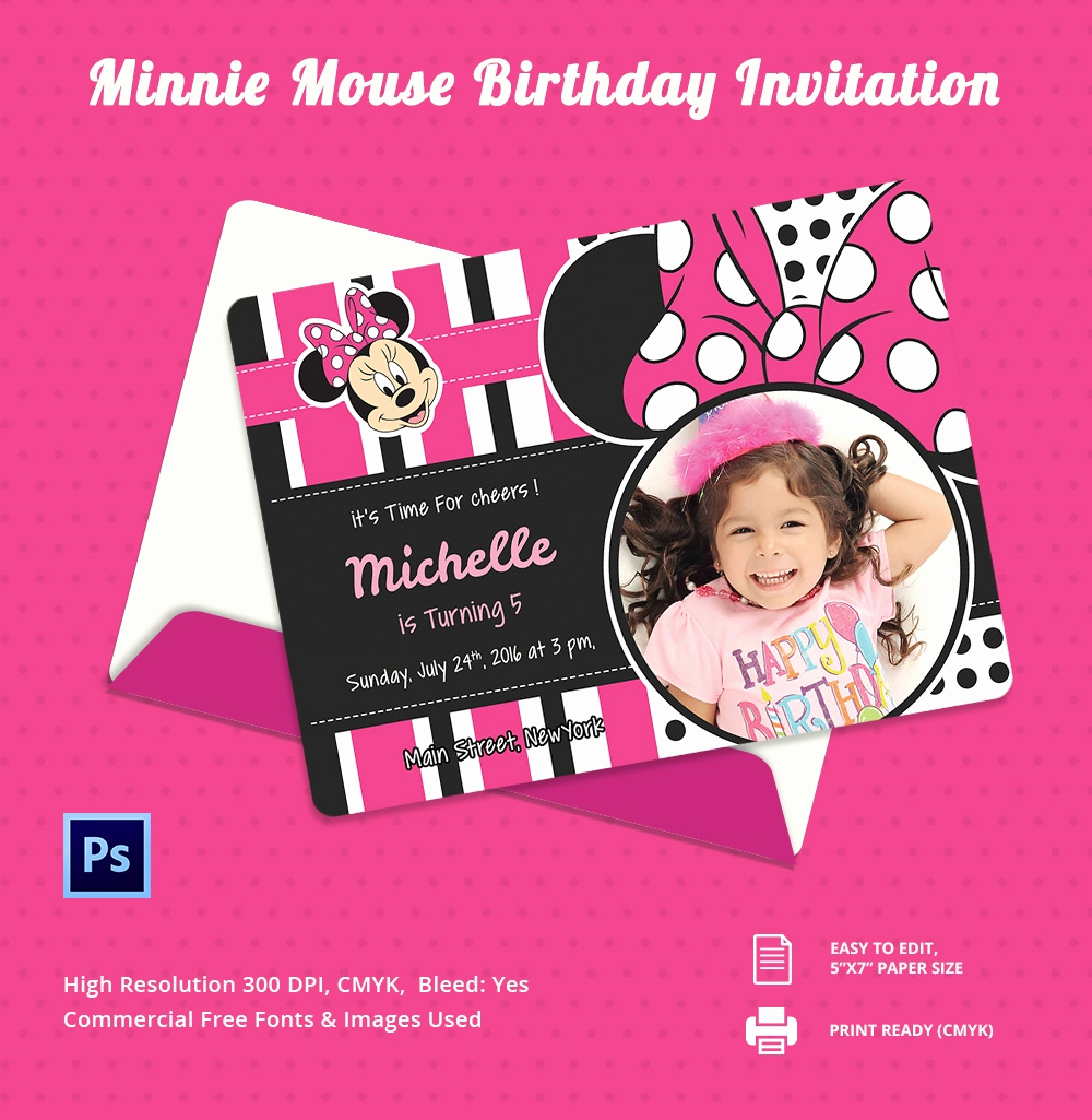 Minnie Mouse Birthday Invitations Best Of Party Invitation Template – 31 Free Psd Vector Eps Ai