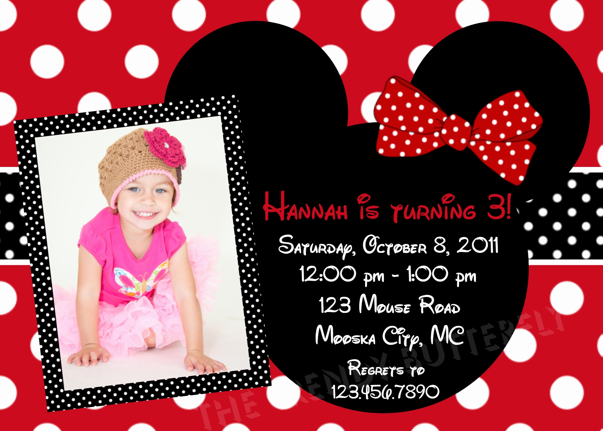Minnie Mouse Birthday Invitations Best Of Printable Birthday Invitations Girls Red Mouse Party