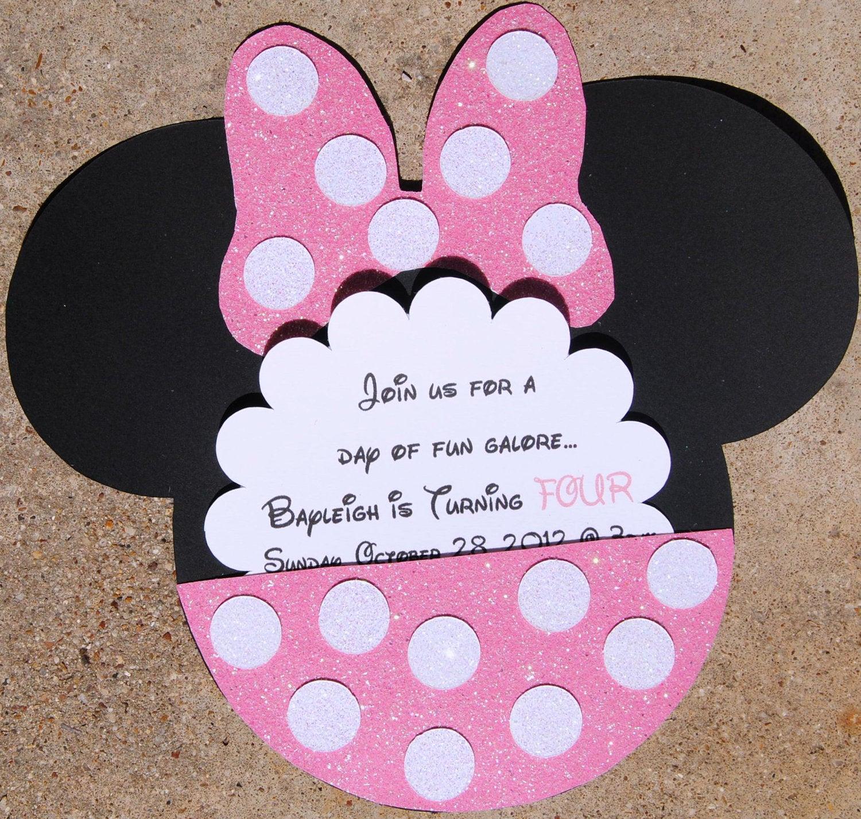 Minnie Mouse Birthday Invitations Best Of Set Of 20 Minnie Mouse Invitations Minnie Mouse by Hellofaith