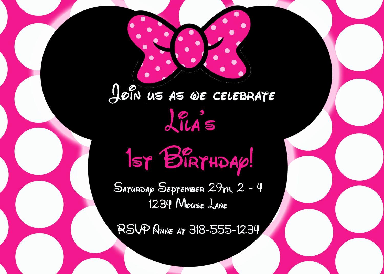 Minnie Mouse Birthday Invitations Inspirational Free Editable Minnie Mouse Birthday Invitations