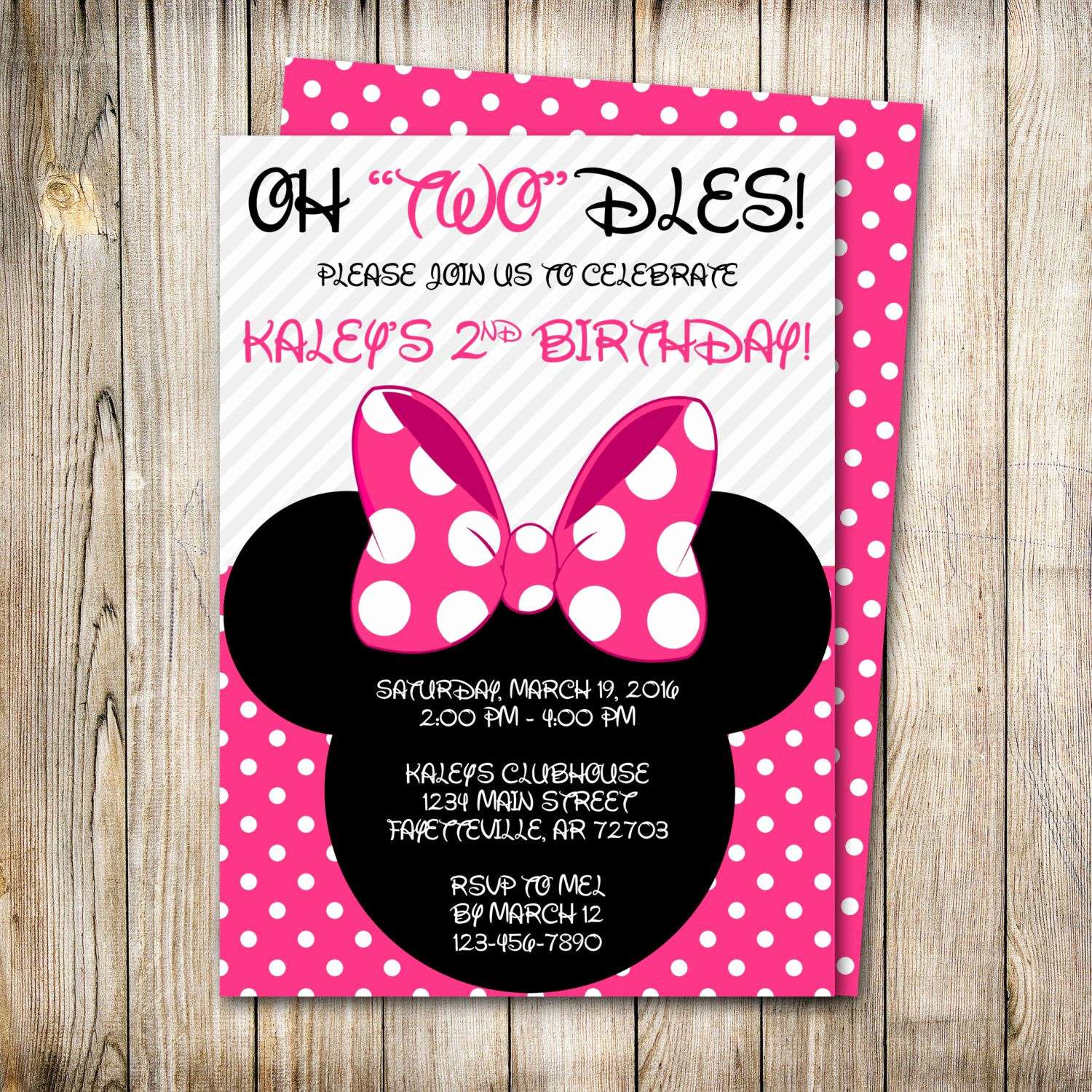 Minnie Mouse Birthday Invitations Lovely Minnie Mouse Birthday Invitation Minnie Mouse Birthday