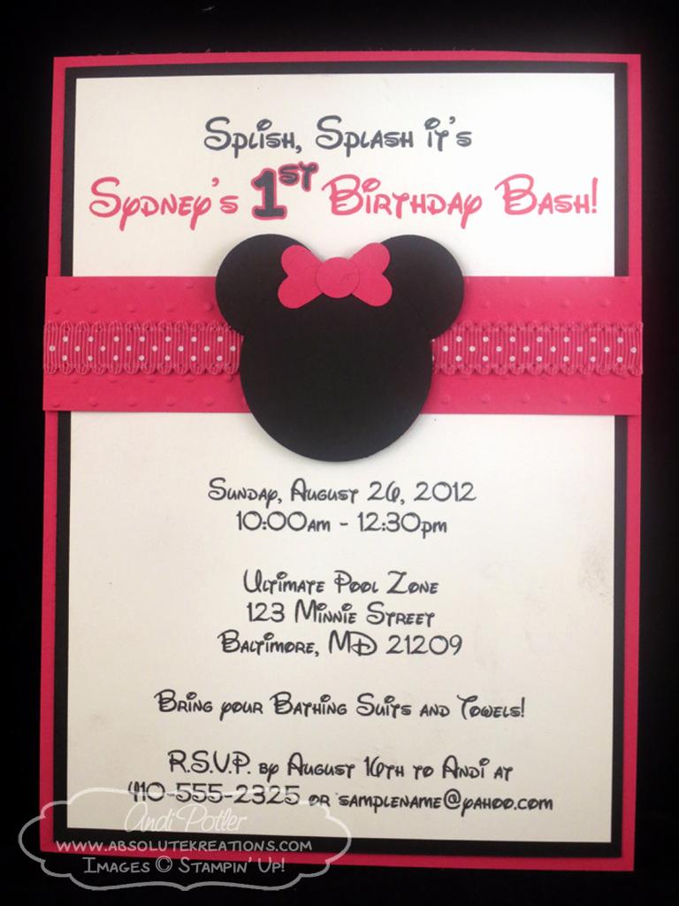 Minnie Mouse Birthday Invitations Luxury Minnie Mouse Birthday Invitations Ideas – Bagvania Free