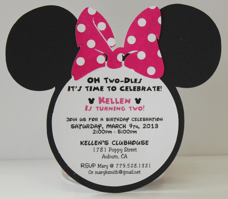 Minnie Mouse Birthday Invitations Unique Minnie Mouse Birthday Invitations Invitation Pink Polka