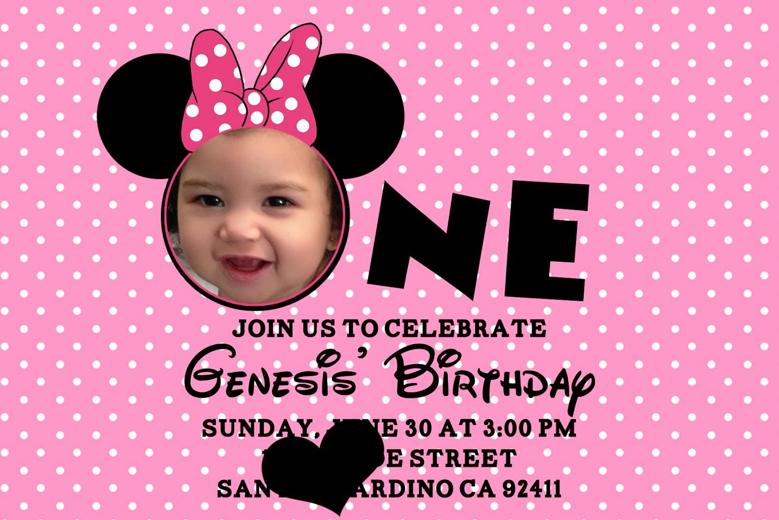 Minnie Mouse Birthday Invitations Unique Minnie Mouse Birthday Invitations Personalized – Bagvania