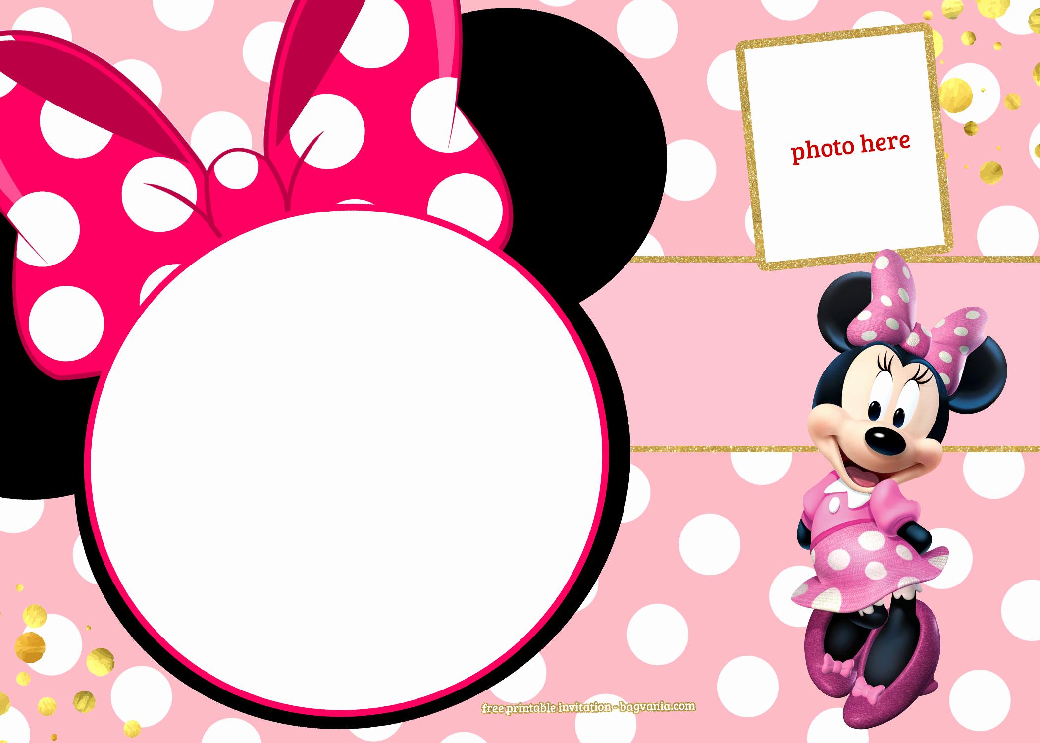 Minnie Mouse Invitation Template Elegant Free Printable Minnie Mouse Pinky Birthday Invitation