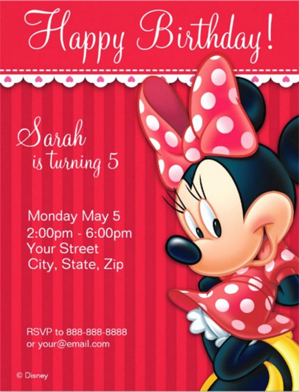 Minnie Mouse Invitation Template Fresh 28 Minnie Mouse Invitation Template Free Sample