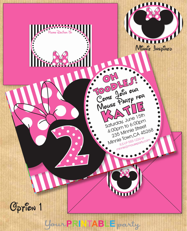 Minnie Mouse Invitation Template Fresh Minnie Mouse Printable Invitations Free Picture Minnie