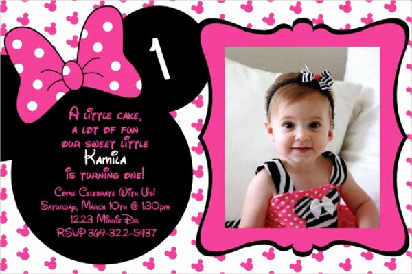 Minnie Mouse Invitation Template Lovely 20 Minnie Mouse Birthday Invitation Templates Psd Ai