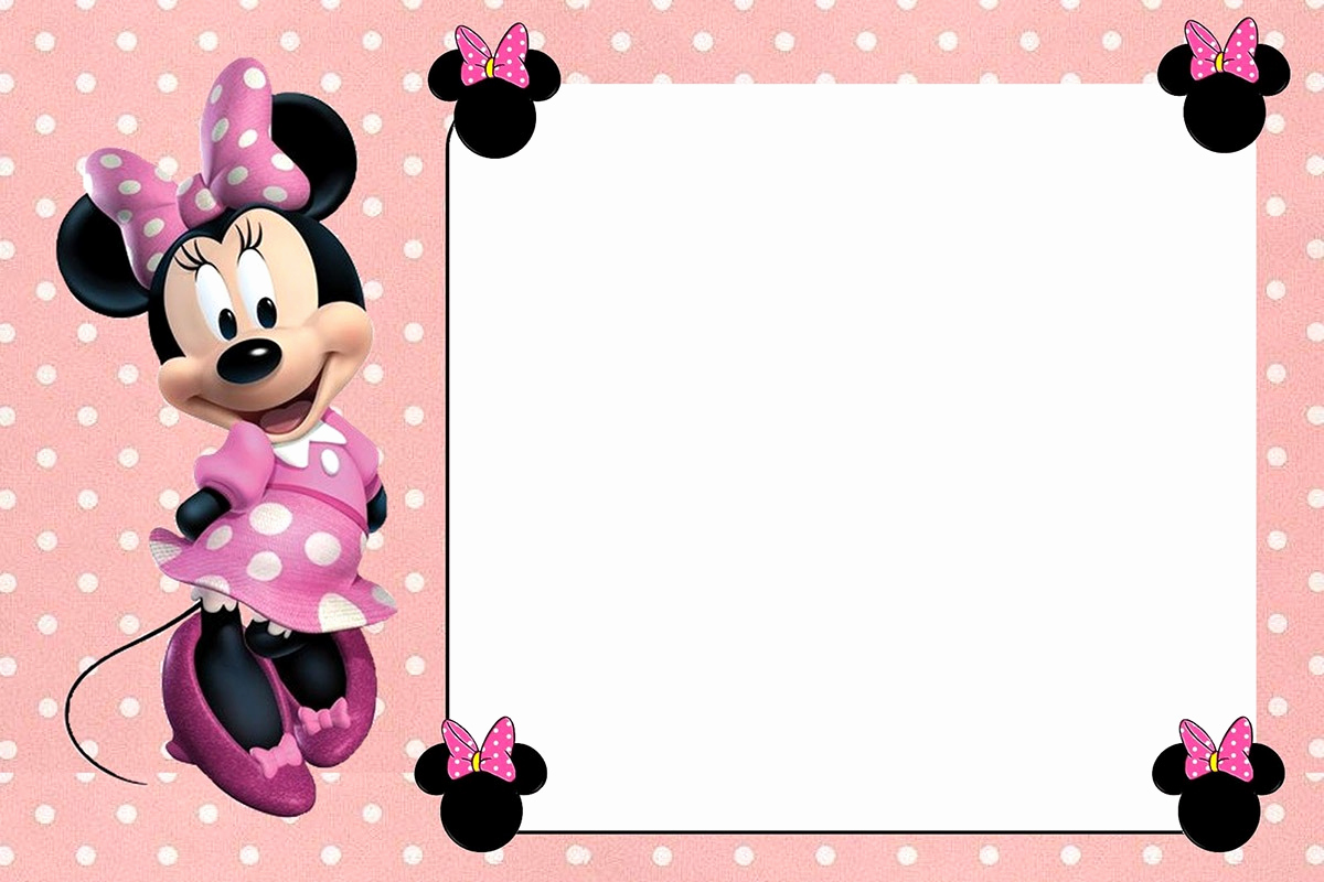 Minnie Mouse Invitation Template Luxury Free Printable Minnie Mouse Invitations