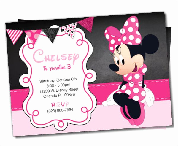 Minnie Mouse Invitation Template New Awesome Minnie Mouse Invitation Template 21 Free Psd