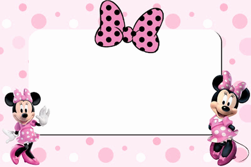 Minnie Mouse Invitation Template New Free Printable Minnie Mouse 1st Birthday Invitation – Free