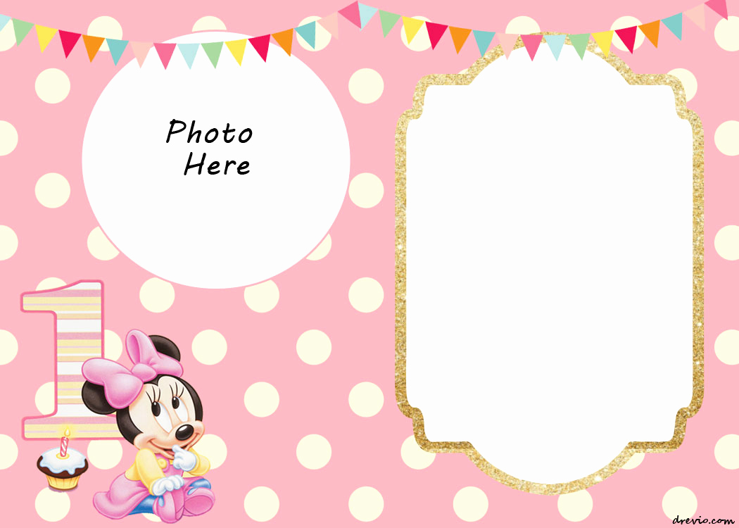 Minnie Mouse Invitation Template New Free Printable Minnie Mouse Birthday Invitations – Free