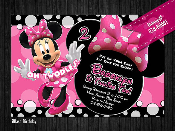 Minnie Mouse Invitation Template Unique 26 Minnie Mouse Invitation Templates Psd Ai Word