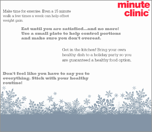 Minute Clinic Doctors Note Awesome Minuteclinic New Years Wellness Campaign Weight Loss