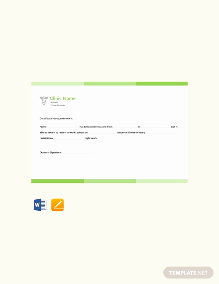 Minute Clinic Doctors Note New Doctors Note for Work Template Download 53 Notes In Word