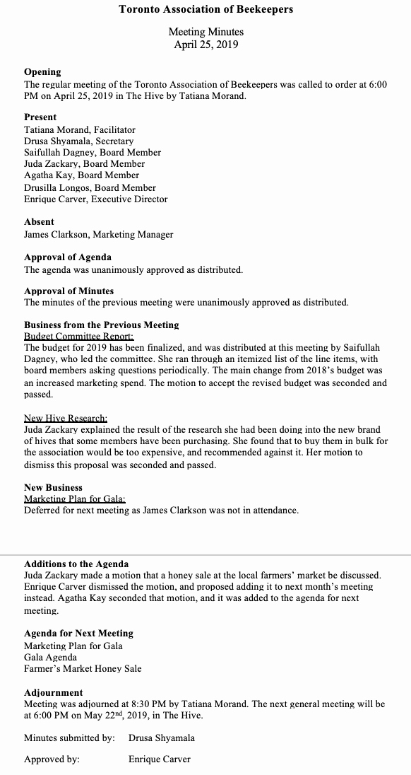 Minutes Of Meeting Sample Unique How to Write Effective Meeting Minutes with Templates and