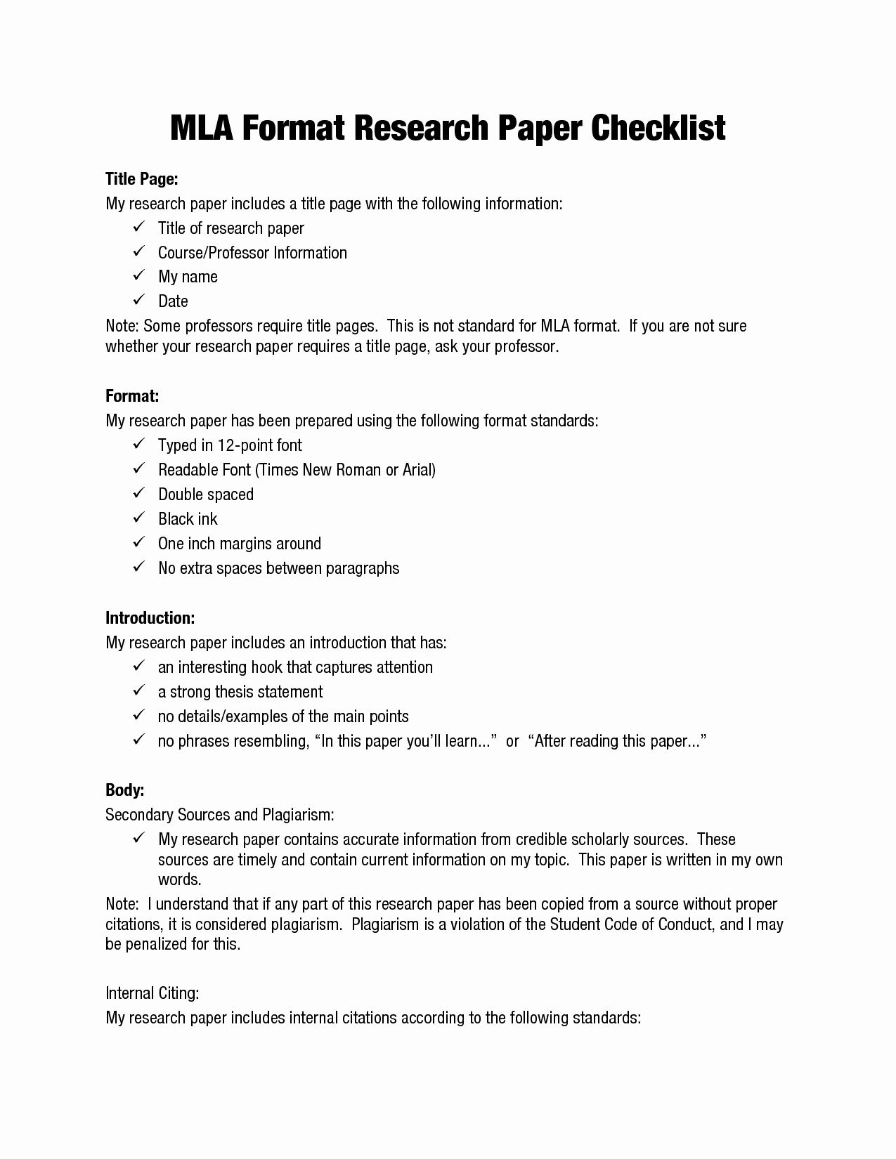 Mla format Outline Template Elegant Mla format Research Papers
