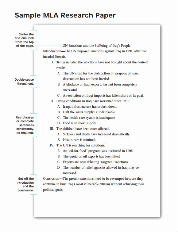 Mla format Outline Template Inspirational Mla format Template
