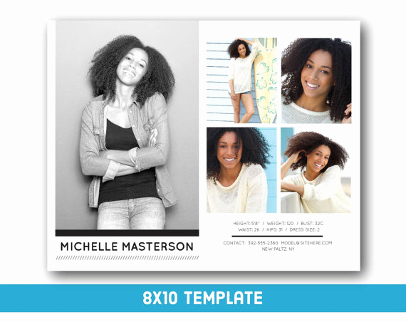 Model Comp Card Template Best Of Customizable Digital Model P Card 8x10 Fashion forward