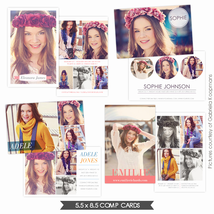 Model Comp Card Template Best Of Instant Download Modeling P Cards Shop Templates