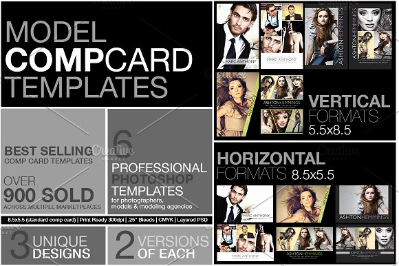 Model Comp Card Template Best Of Model P Card Kit Flyer Templates Creative Market