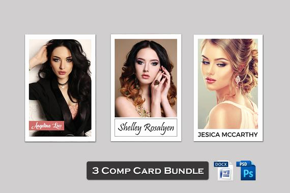 Model Comp Card Template Inspirational 3 Model P Card Template Bundle Modeling P Card Model