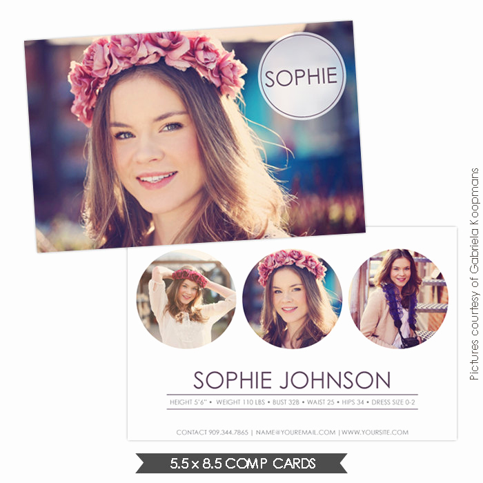 Model Comp Card Template Inspirational Instant Download Modeling P Card Shop Templates