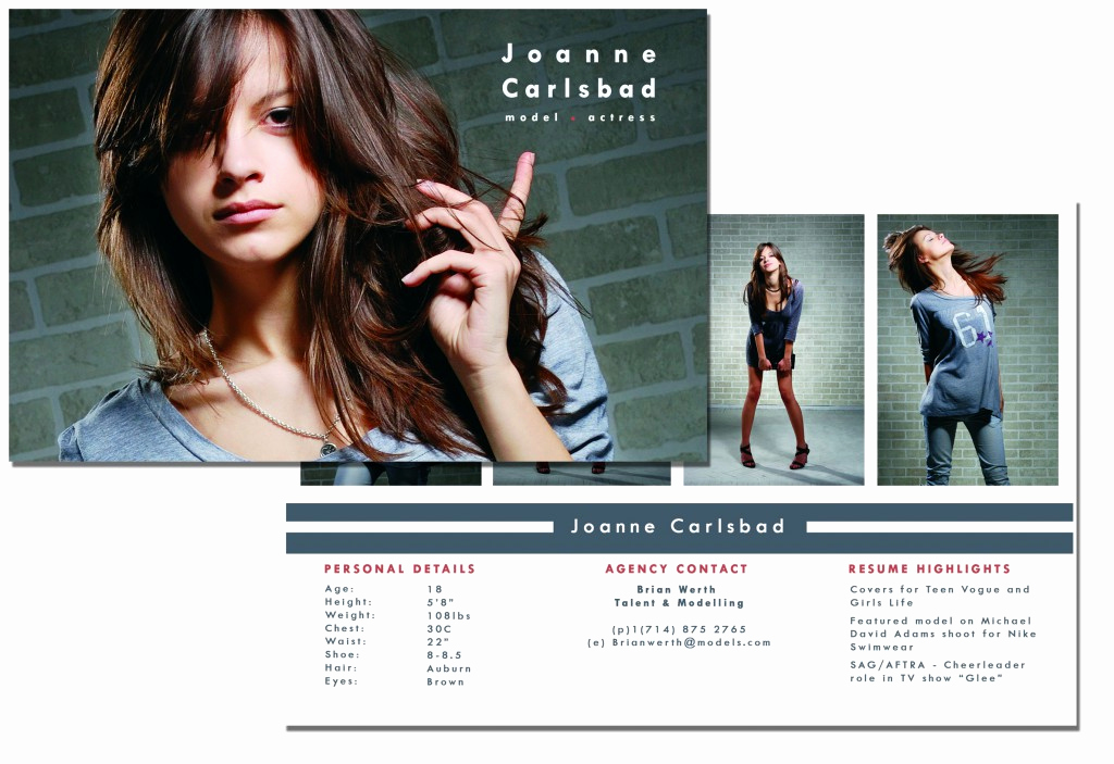 Model Comp Card Template Lovely P Card Template