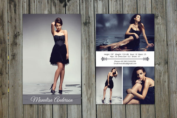 Model Comp Card Template New 8 P Card Templates Free Sample Example format