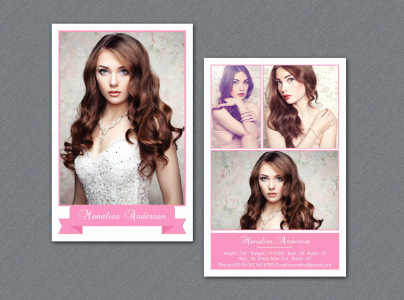 Model Comp Card Template New Model P Card Zed Card Collections On Behance