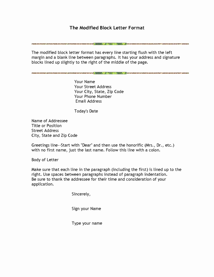 Modified Block Letter format Best Of Die Besten 25 formeller Brief format Probe Ideen Auf