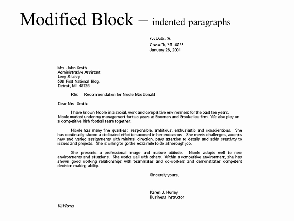 Modified Block Letter format Lovely Parts Of A Business Letters Ppt Video Online