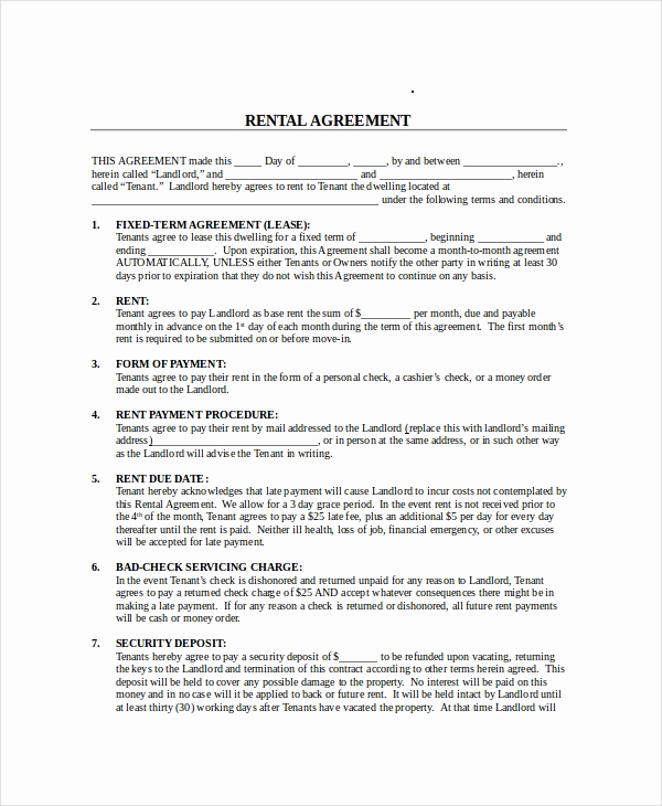 Month to Month Lease form New Month to Month Lease Agreement 8 Free Pdf Word Google