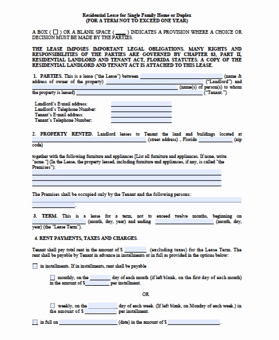 Month to Month Lease Template Beautiful Free Florida Month to Month Lease Agreement Pdf