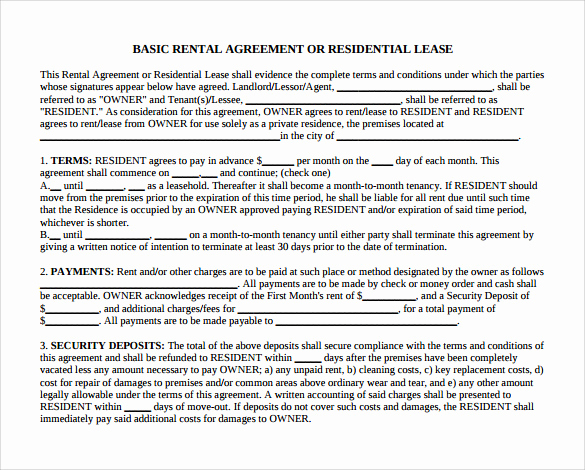 Month to Month Lease Template Luxury 12 Month to Month Rental Agreement form Templates to