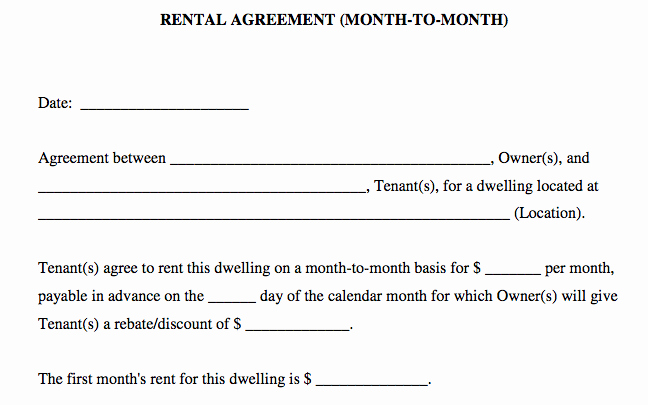 free basic rental agreement in word