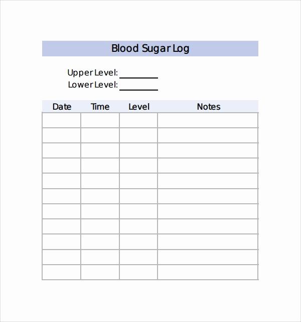 Monthly Blood Sugar Log Fresh Sample Blood Sugar Log Template 8 Free Documents In Pdf