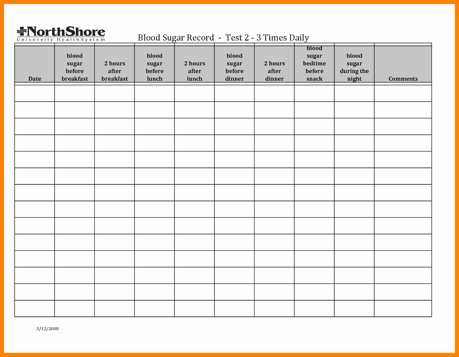 Monthly Blood Sugar Log Lovely Blood Sugar Log Template In Pdf format Excel Template
