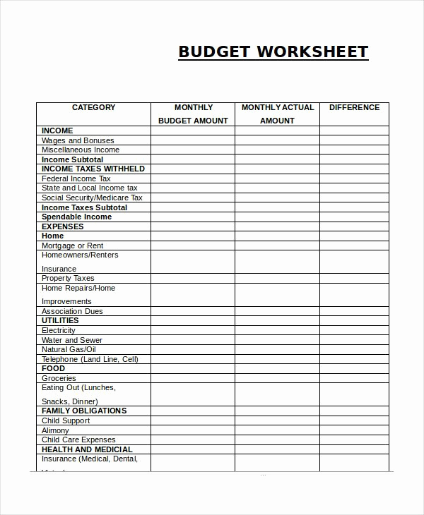Monthly Budget Excel Spreadsheet Template Fresh Monthly Bud Worksheet Simple Monthly Bud Template