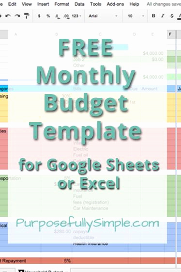 Monthly Budget Excel Spreadsheet Template Inspirational Best 20 Bud Templates Ideas On Pinterest