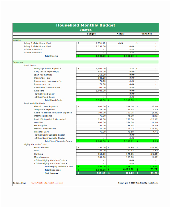 Monthly Budget Template Excel Awesome 24 Free Excel Bud Templates Examples