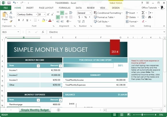 Monthly Budget Template Excel Awesome Free Monthly Bud Template for Excel 2013