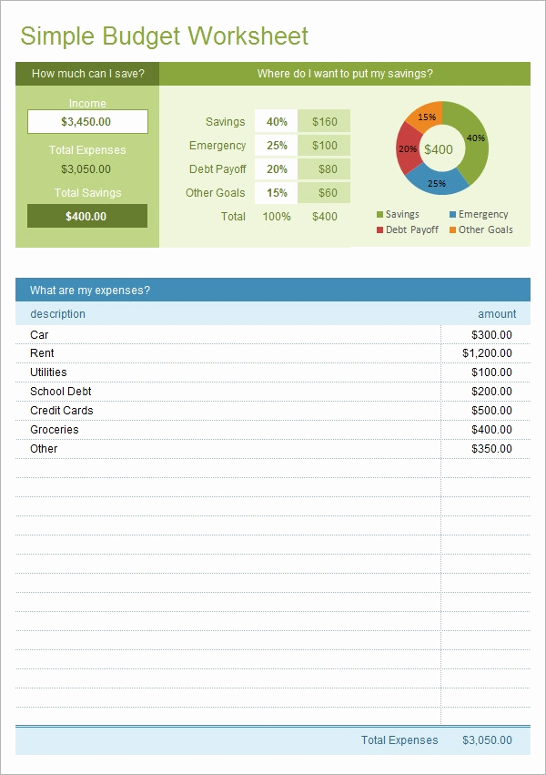 Monthly Budget Worksheet Excel Fresh Sample Bud 11 Example format