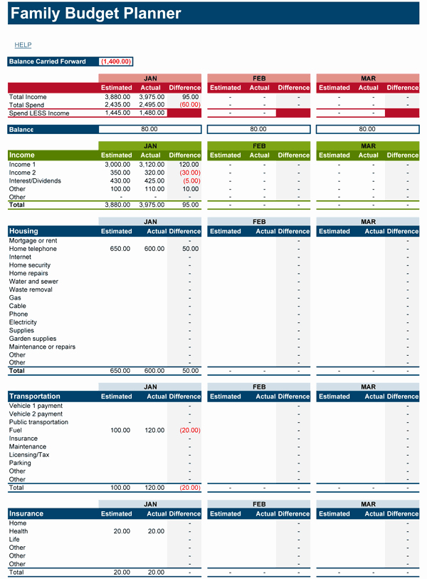 Monthly Budget Worksheet Excel Inspirational Download Free Family Bud Spreadsheet for Microsoft