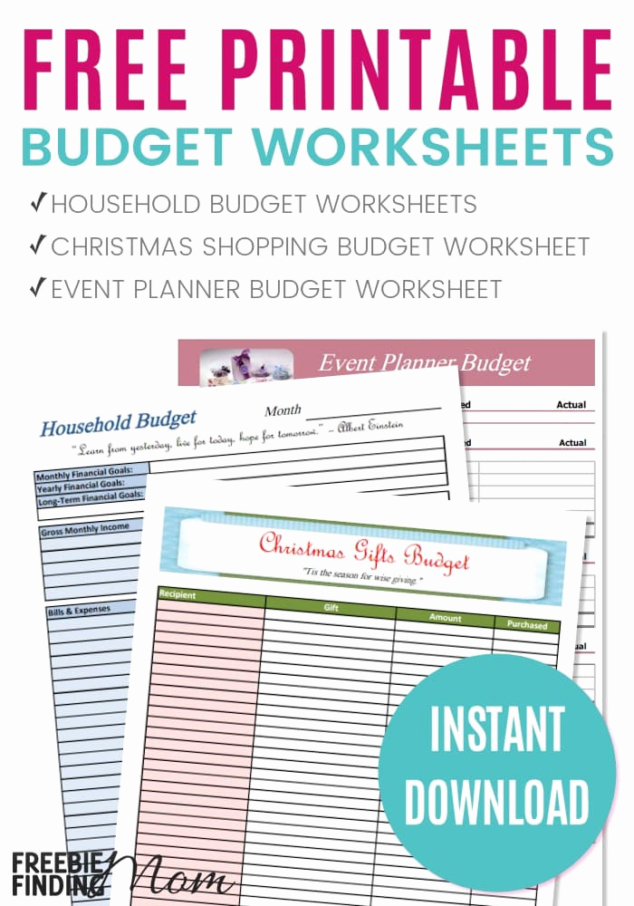 Monthly Budget Worksheet Printable Lovely Free Printable Bud Worksheets