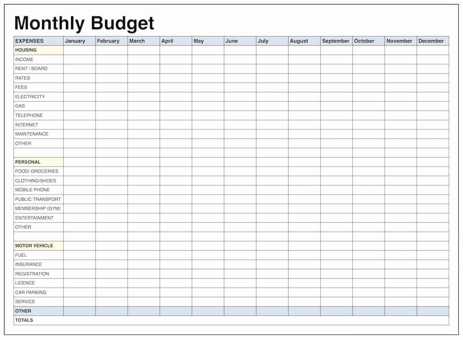 Monthly Budget Worksheet Printable Luxury Blank Monthly Bud Template Pdf