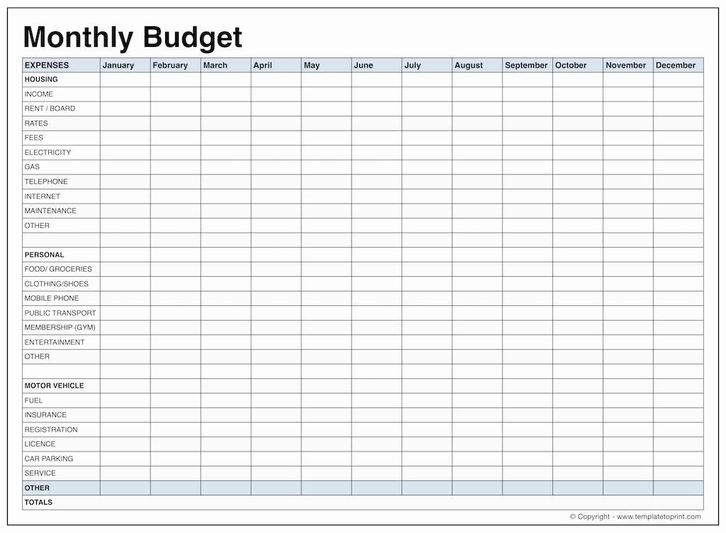 Monthly Budget Worksheet Printable New Monthly Bud Worksheet Dc Design
