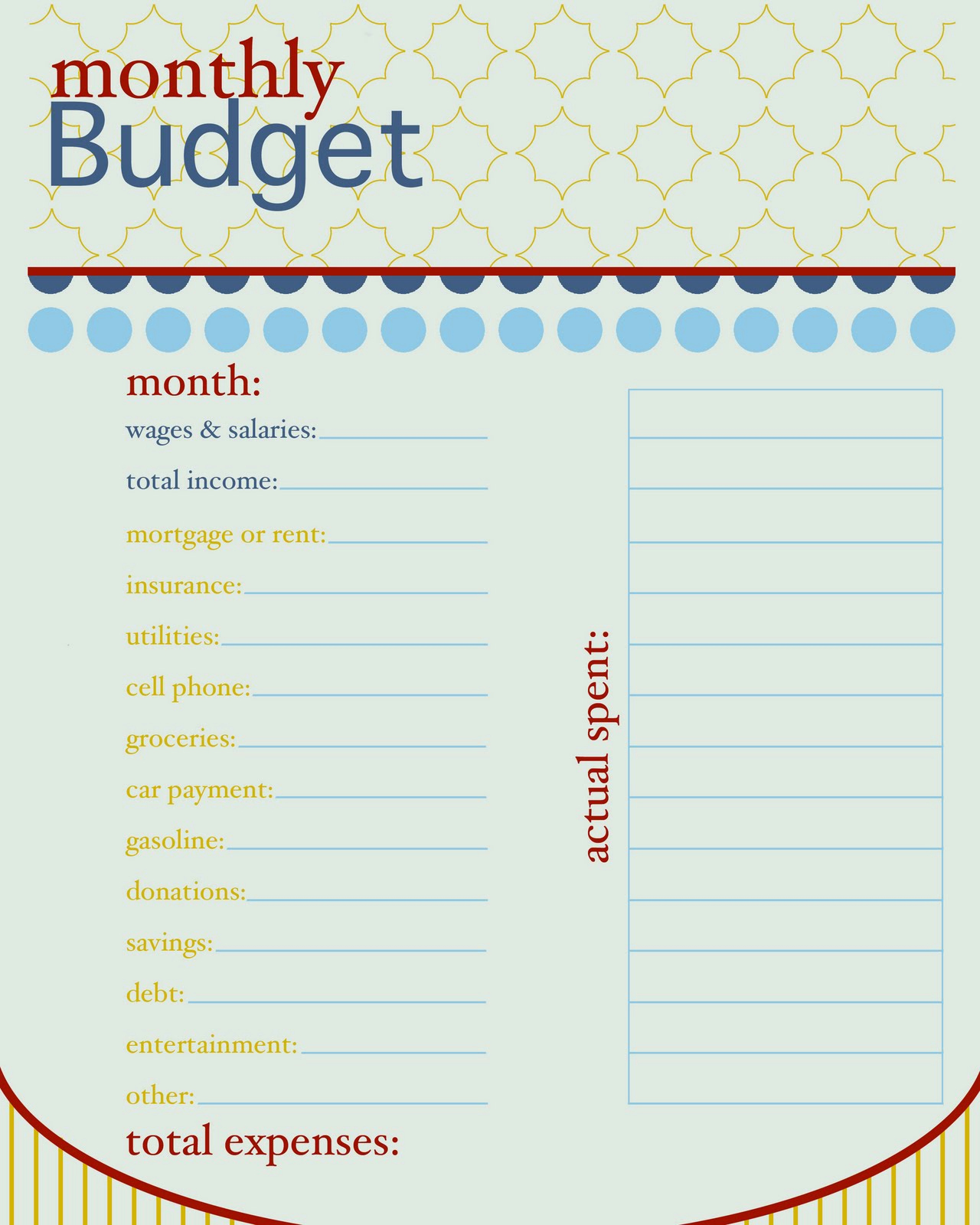 Monthly Budget Worksheet Printable New Sissyprint Freebie Friday Monthly Bud